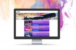 portofoliu web design saino flight festival 2020