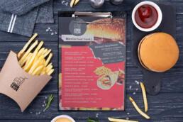 fast food meniu design personalizat saino