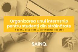 internship studenti straini in Timisoara la SAINO